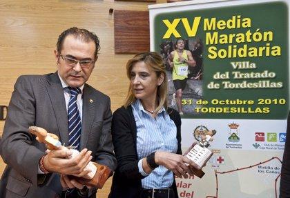 Tordesillas (Valladolid) celebra hoy la XV Media Maratón Solidaria 'Villa del Tratado de Tordesillas'