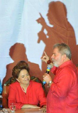 Dilma Rouseff y Lula