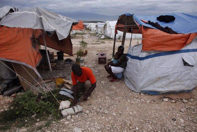 Campamento en Haití