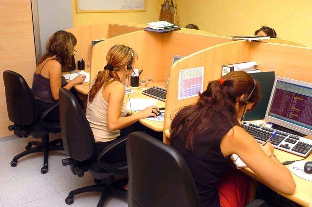 Trabajadoras de Telemarketing
