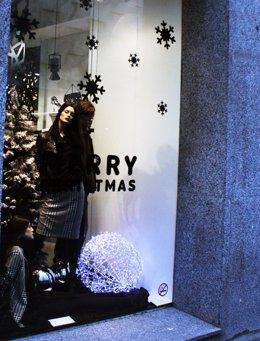 Comercio, tienda en Navidad