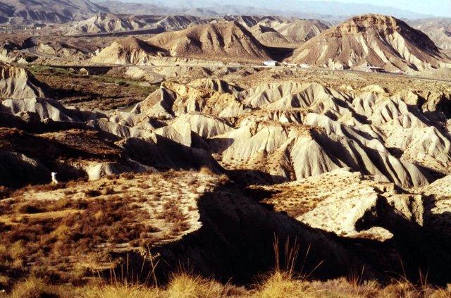 La erosión en el desierto