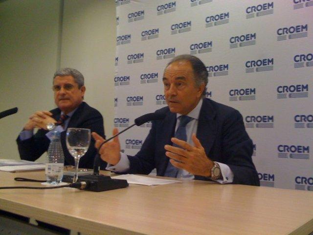 Miguel del Toro y Banegas en una rueda de prensa