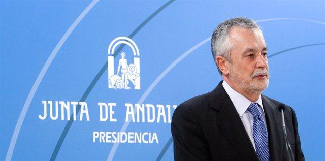 José Antonio Griñán comparece en el Palacio de San Telmo