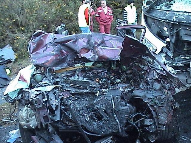 Un accidente de tráfico en Galicia