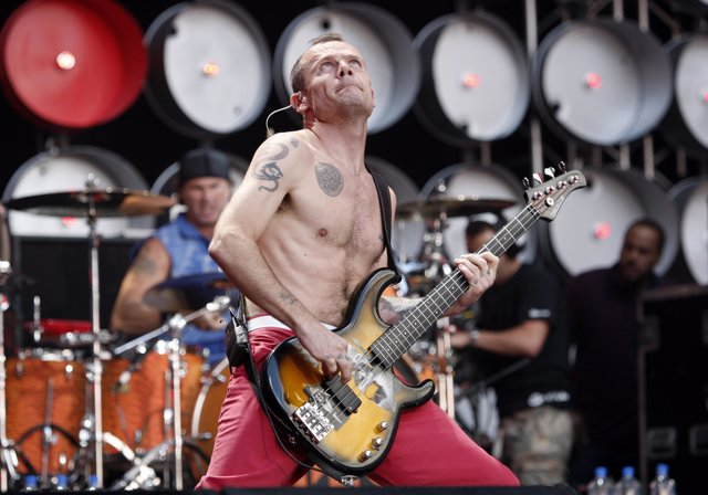 El bajista de los Red Hot Chili Peppers, Flea