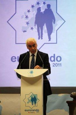 El consejero Luciano Alonso, en la presentación del Eurorando