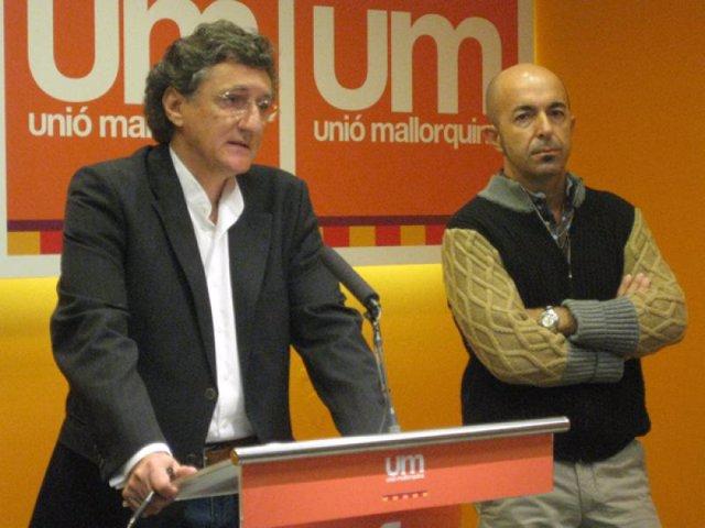 Los 'uemitas' Miquel Munar y Joan Àngel Coll