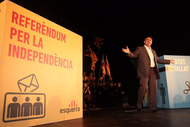 Joan Puigcercós en la apertura de la campaña de ERC