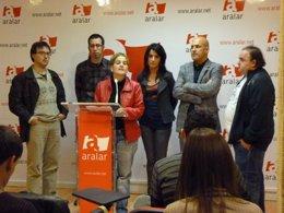 Presentación de los candidatos de Aralar en Gipuzkoa.