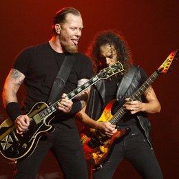 James Hetfield, cantante, y Kirk Hammett, guitarrista, de Metallica