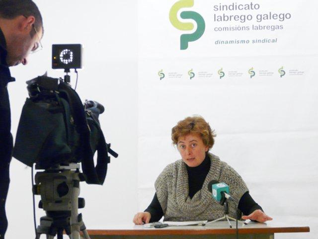 La secretaria xeral del SLG, Carme Freire