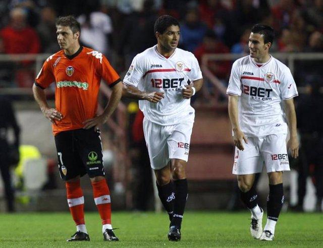 Partido de Liga entreel Sevilla y el Valencia