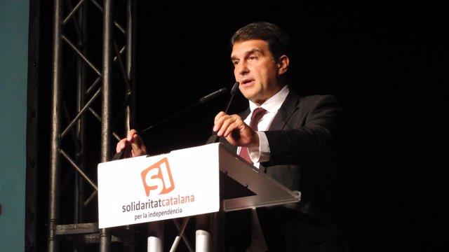 Joan Laporta (SI) en la apertura de la campaña a las catalanas