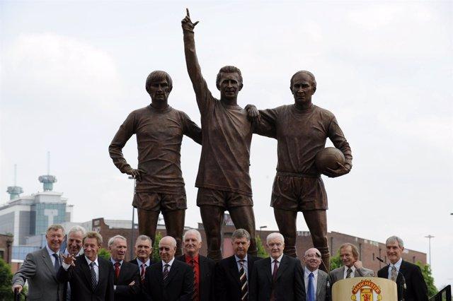 Homenaje a los 'Busby Babes' jugadores del Manchester United muertos en accident