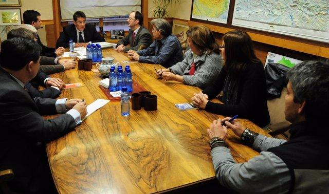 Imagen de la reunión esta tarde en Zaragoza