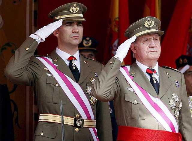 El Rey Juan Carlos y el Principe Felipe