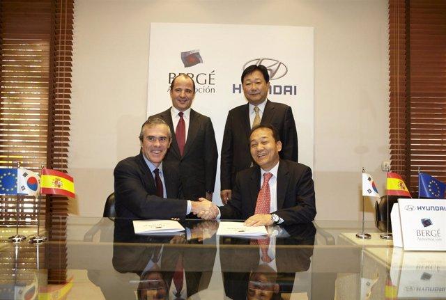 Acuerdo entre Hyundai y Bergé Automoción