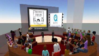 F.La plataforma virtual Second Life hace sentirse más cómodos y tranquilos al hablar una lengua extranjera
