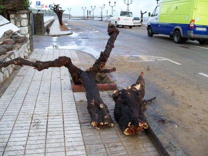 Vecinos de Rianxo (A Coruña) afectados por un tornado protegen sus viviendas a la espera de evaluar los daños
