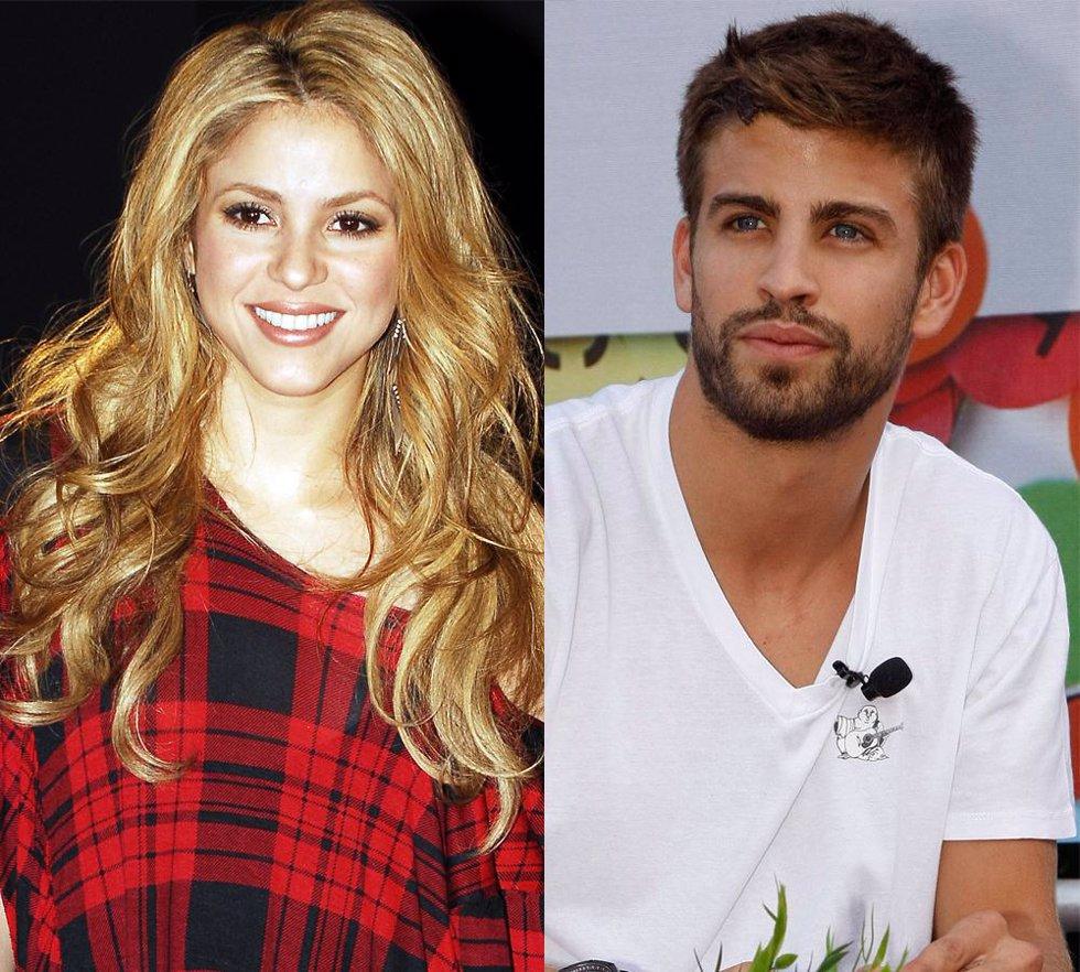 Montaje de la cantante Shakira y el futbolista Gerard Piqué