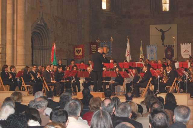 Una actuación de la Banda Municipal de Fraga