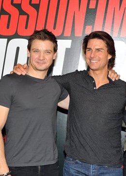 Jeremy Renner y Tom Cruise, protagonistas de Misión Imposible 4