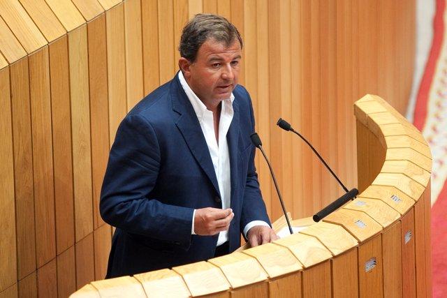 El conselleiro de Economía, Javier Guerra