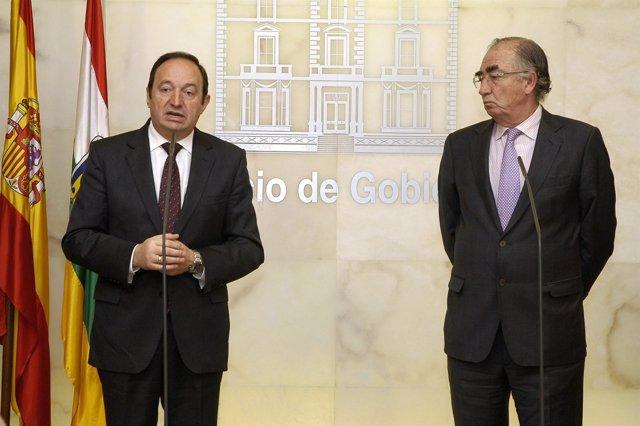 Pedro Sanz y Amado Franco