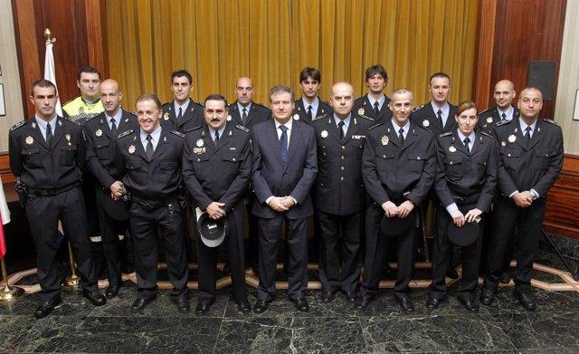 Cabos de la Policía Local de Santander