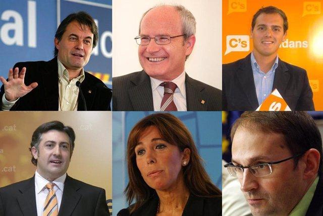 candidatos a las elecciones en Cataluña