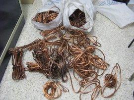 Dos detenidos por el robo de cable de cobre en Manzanares (Ciudad Real)
