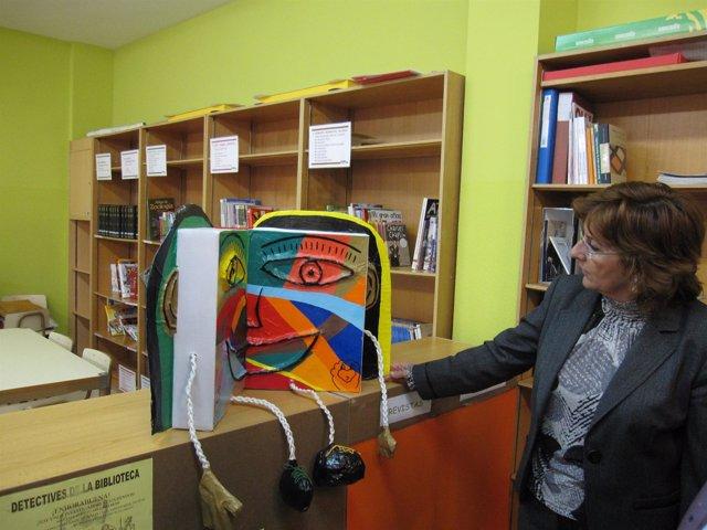María Victoria Broto en el Colegio Público Montecorona de Sabiñánigo (Huesca)