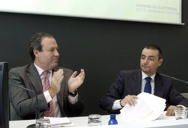 Terciado aplaude al nuevo presidente de Cepymev, Salvador Navarro.