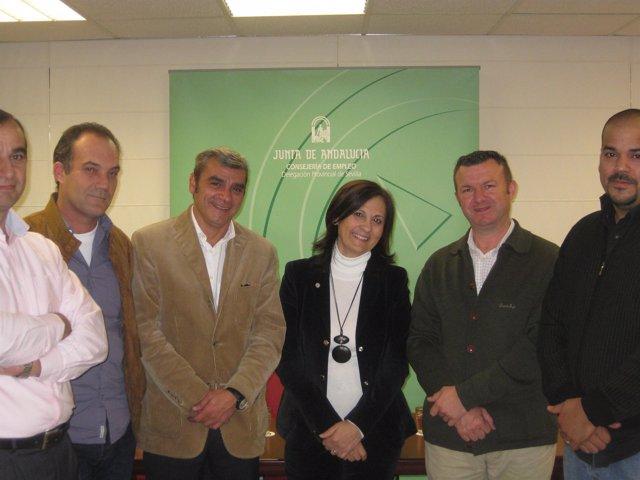 Cosano con los representantes de las partes del ERE.
