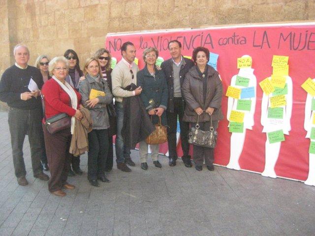 El alcalde de Murcia ha dejado su mensaje de rechazo a la violencia de género en
