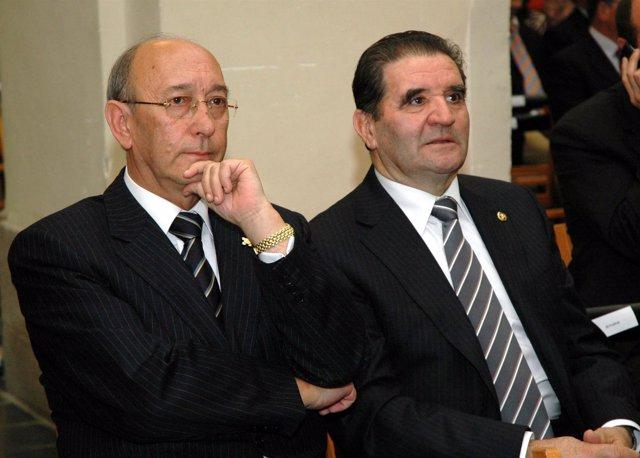 El director y el presidente de Caja Rural de Toledo