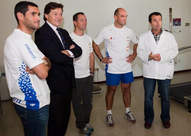 Iker Martínez, Xabi Martínez y Antón Paz