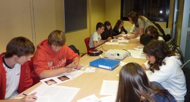 Alumnos participan en el primer curso 'Avatar Challenge' en Pamplona.