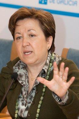 A conselleira de Sanidade, Pilar Farjas Abadía, e a directora de Asistencia Sani