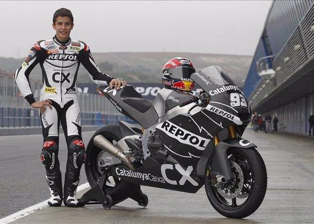 Marc Márquez con su nueva moto