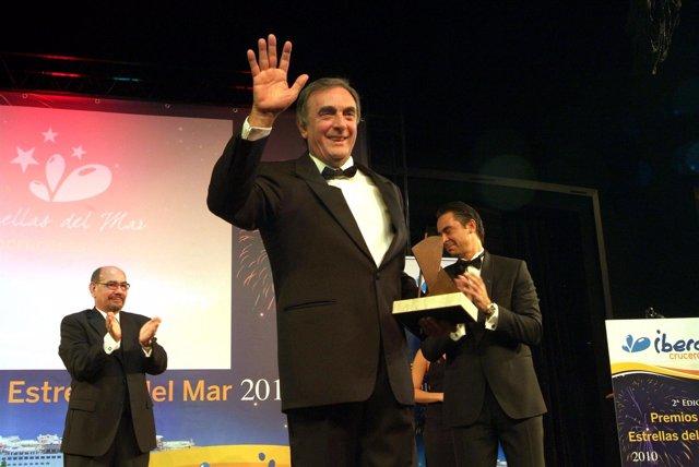El consejero delegado de Iberocruceros, Mario Martini, en los Premios 2010 Ibero