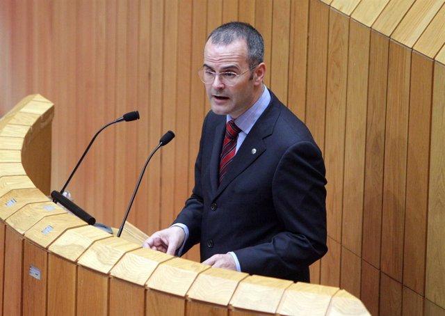 Jesús Vázquez, en el Parlamento