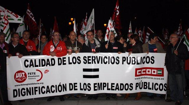 Comunicado De Prensa Y Manifiesto Concentracion UGT Y CCOO