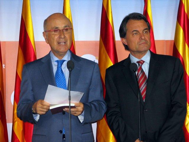Duran i Lleida con Mas