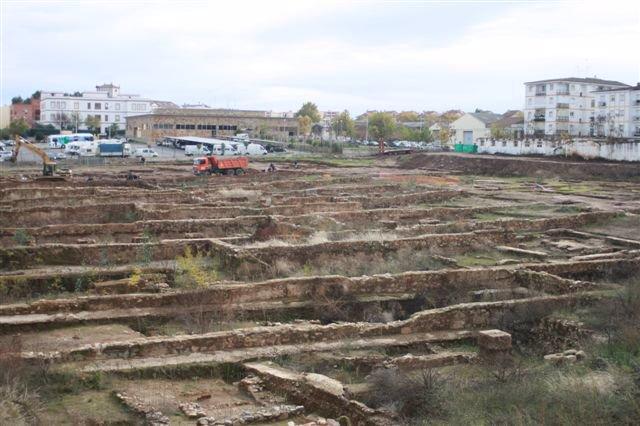 Restos arqueológicos del Cuartel Hernán Cortés