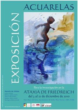 Cartel de la exposición 'Acuarelas para la ataxia'