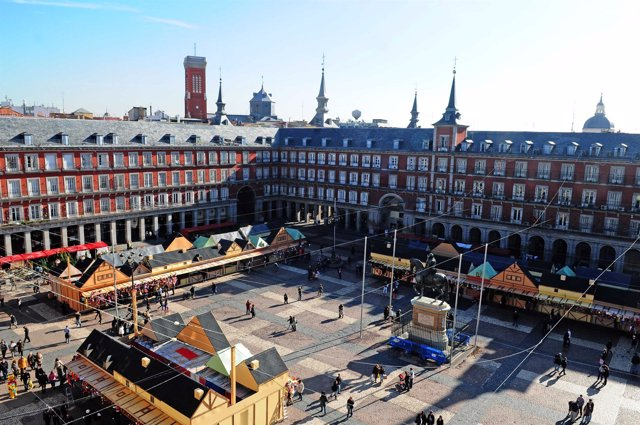 Mercado navideño de la plaza Mayor