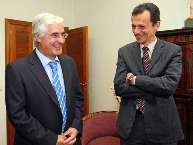 Barreda y Pedro Duque