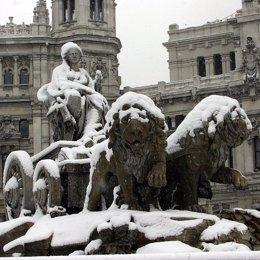 Temporal de nieve en Madrid